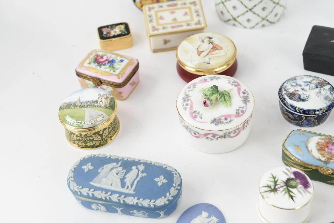 GROUPING OF PORCELAIN BOXES ETC. - 8