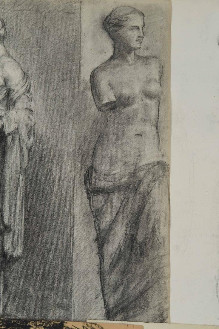GROUPING OF CHARCOAL FEMALE NUDES - 11
