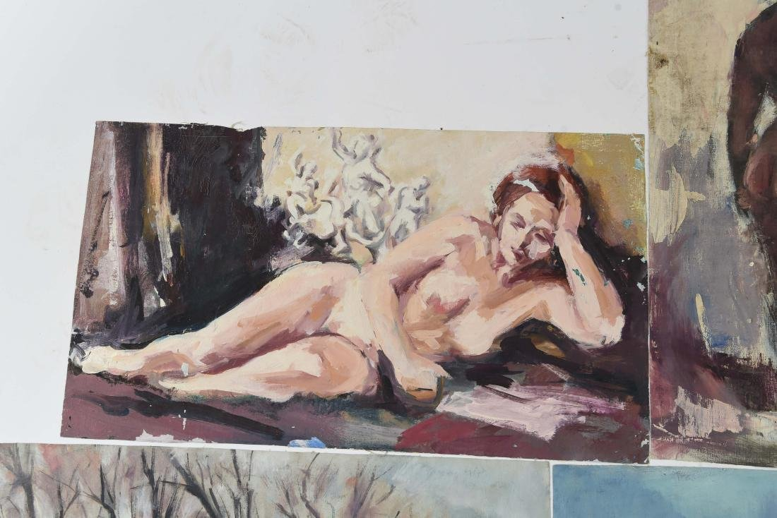 GROUPING OF OIL ON CANVASES - 4