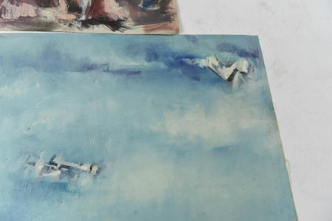 GROUPING OF OIL ON CANVASES - 9