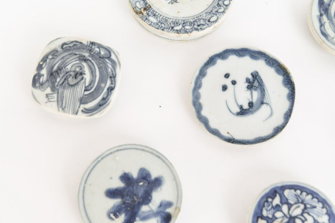 (7) CHINESE BLUE PORCELAIN LIDS - 3