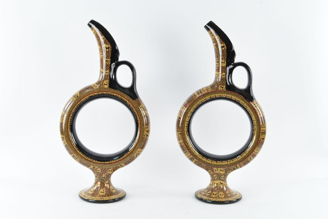 PAIR OF DECORATIVE PITCHERS