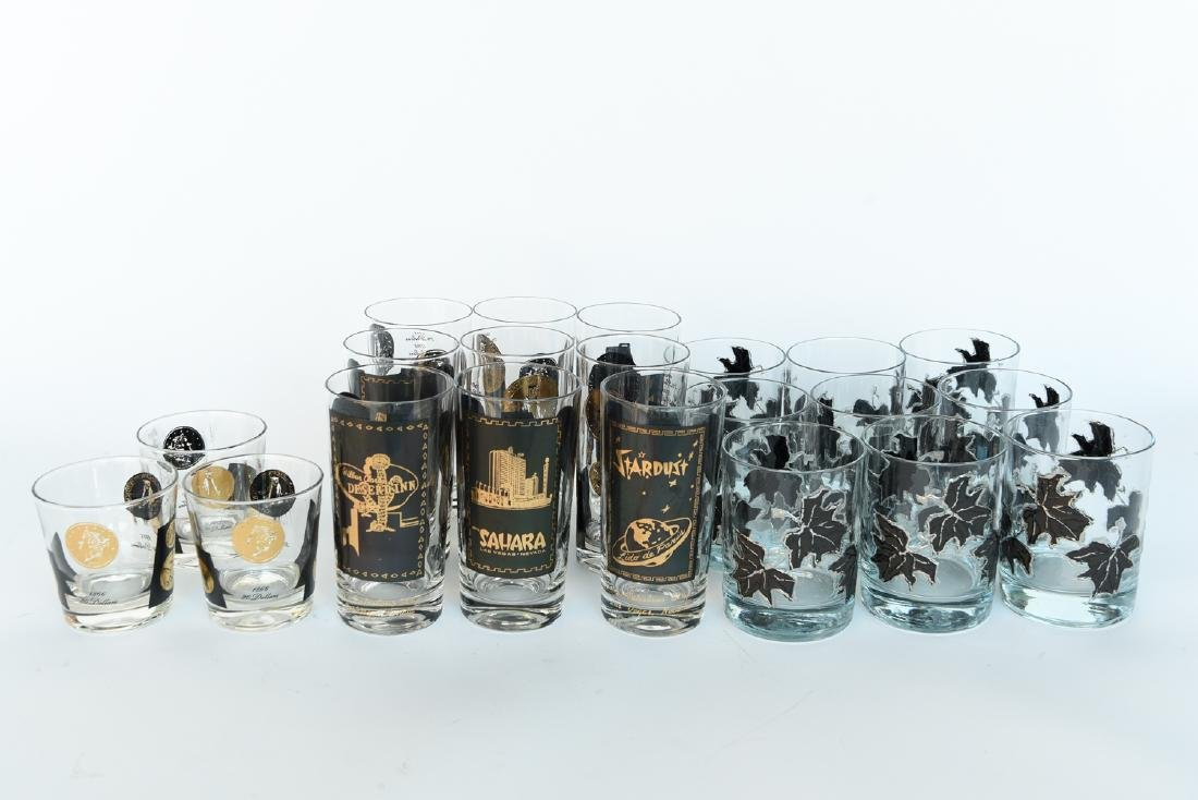 MID-CENTURY DRINKING GLASS GROUPING