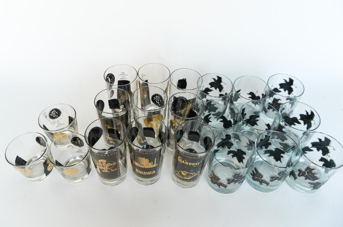 MID-CENTURY DRINKING GLASS GROUPING - 6