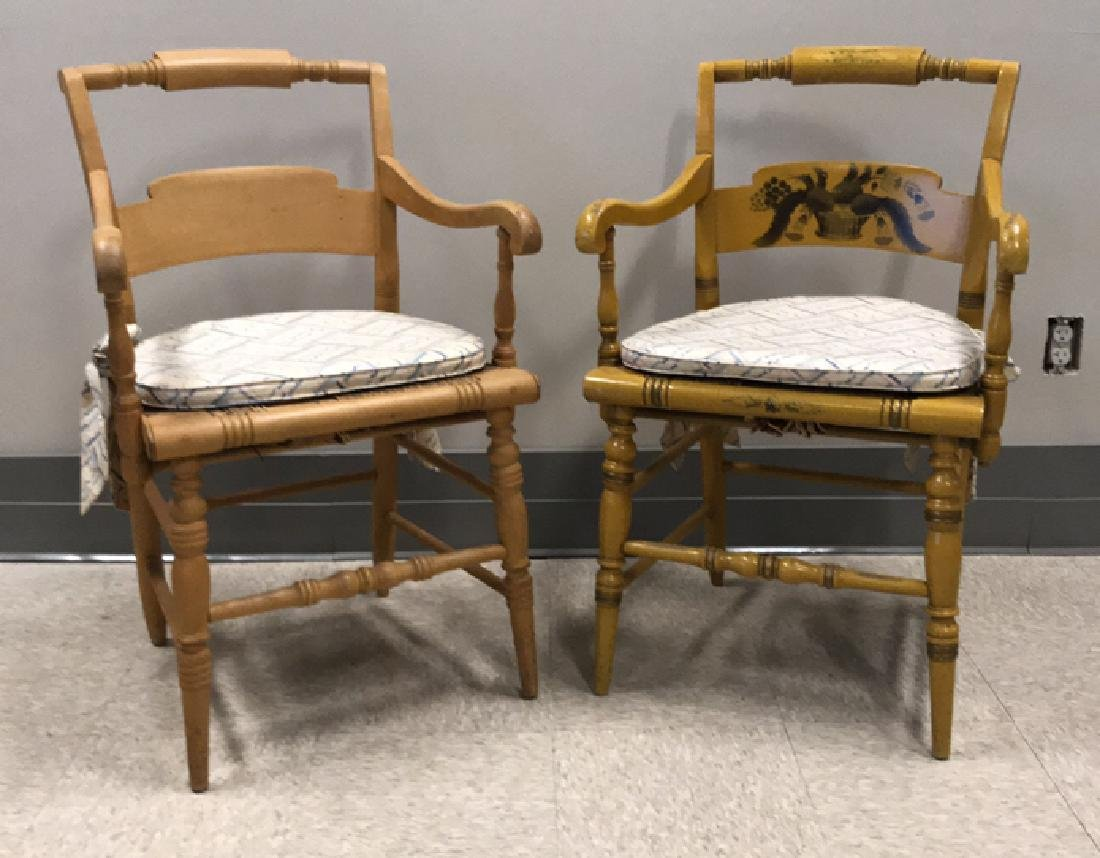 (2) HITCHCOCK CHAIRS
