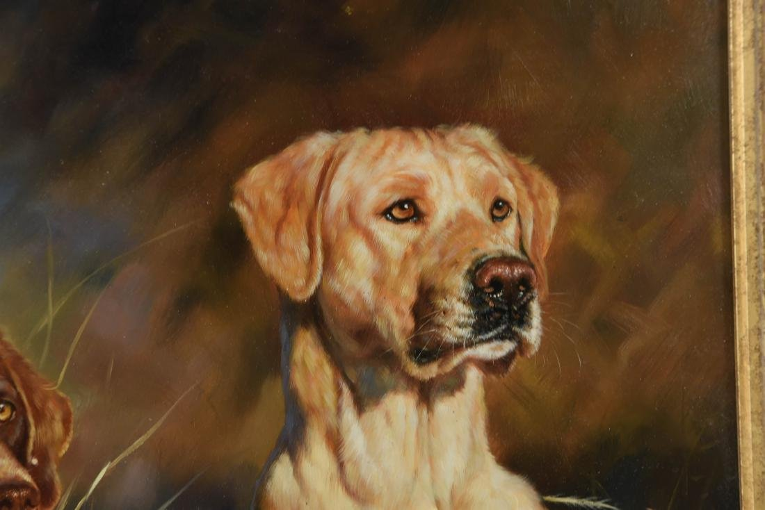 GUY LEON OIL ON BOARD OF DOGS - 8