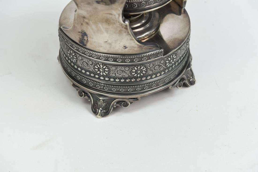 SILVER PLATE A & S CO TEA KETTLE C. 1870/1880 - 10