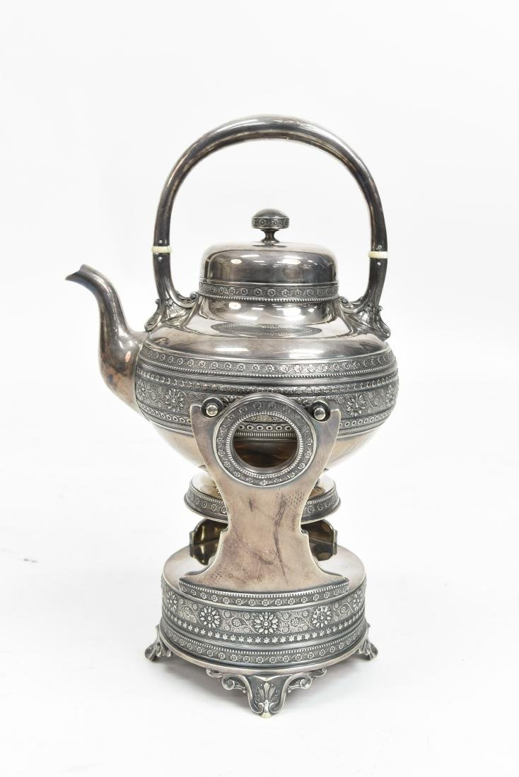 SILVER PLATE A & S CO TEA KETTLE C. 1870/1880