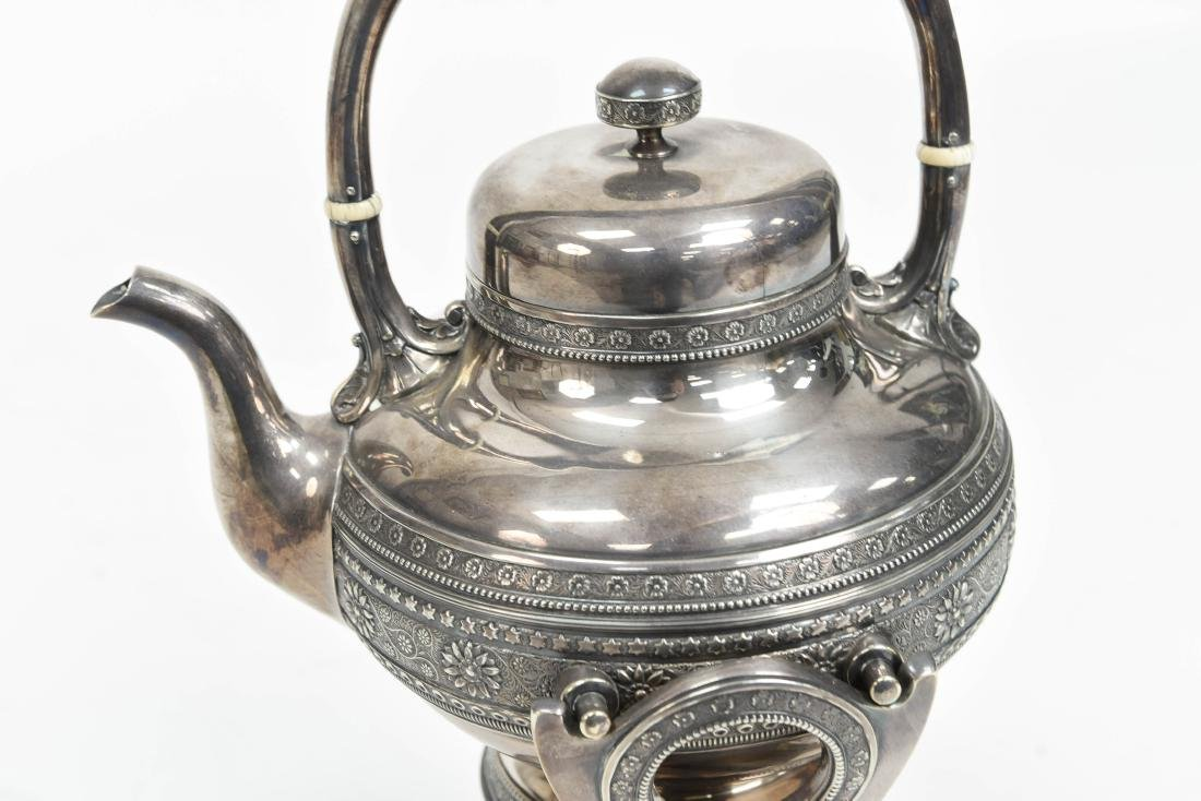 SILVER PLATE A & S CO TEA KETTLE C. 1870/1880 - 3
