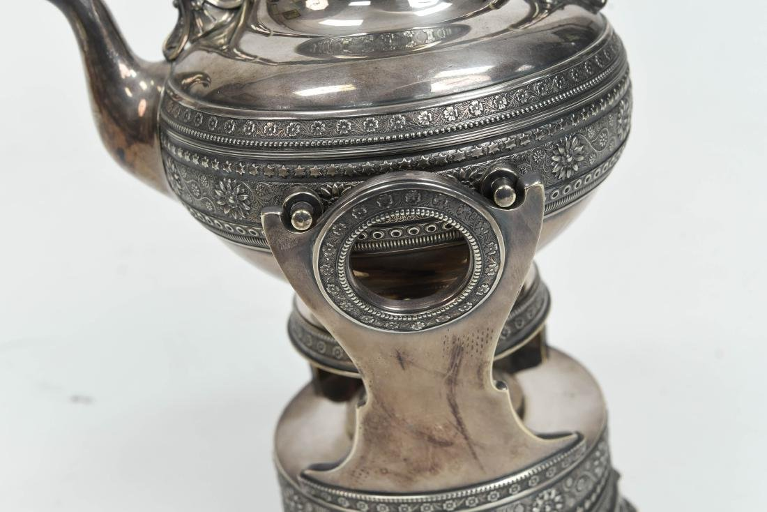 SILVER PLATE A & S CO TEA KETTLE C. 1870/1880 - 4