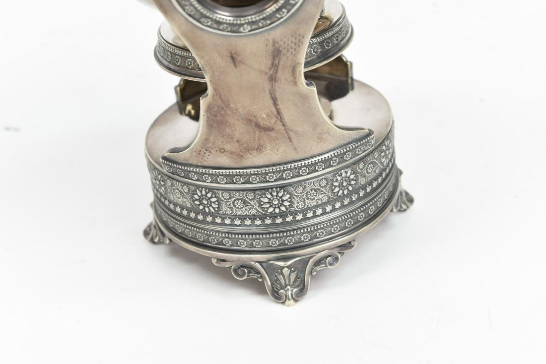 SILVER PLATE A & S CO TEA KETTLE C. 1870/1880 - 5