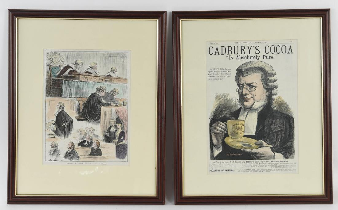 (2) HAND COLORED ILLUSTRATED LONDON NEWS PRINTS