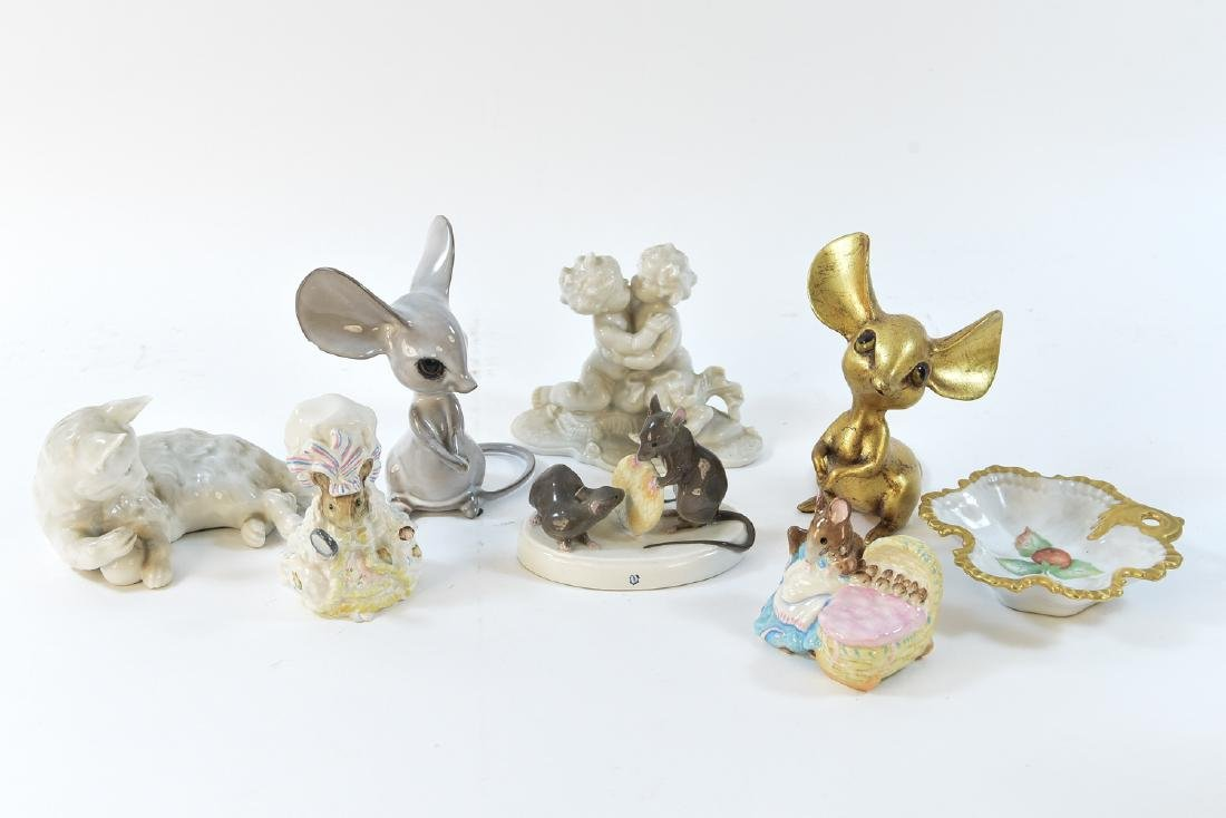 PORCELAIN MOUSE GROUPING ETC