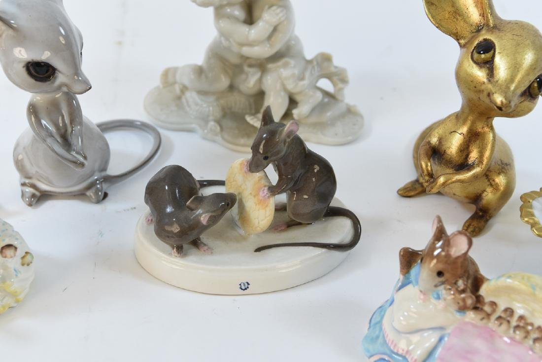 PORCELAIN MOUSE GROUPING ETC - 3