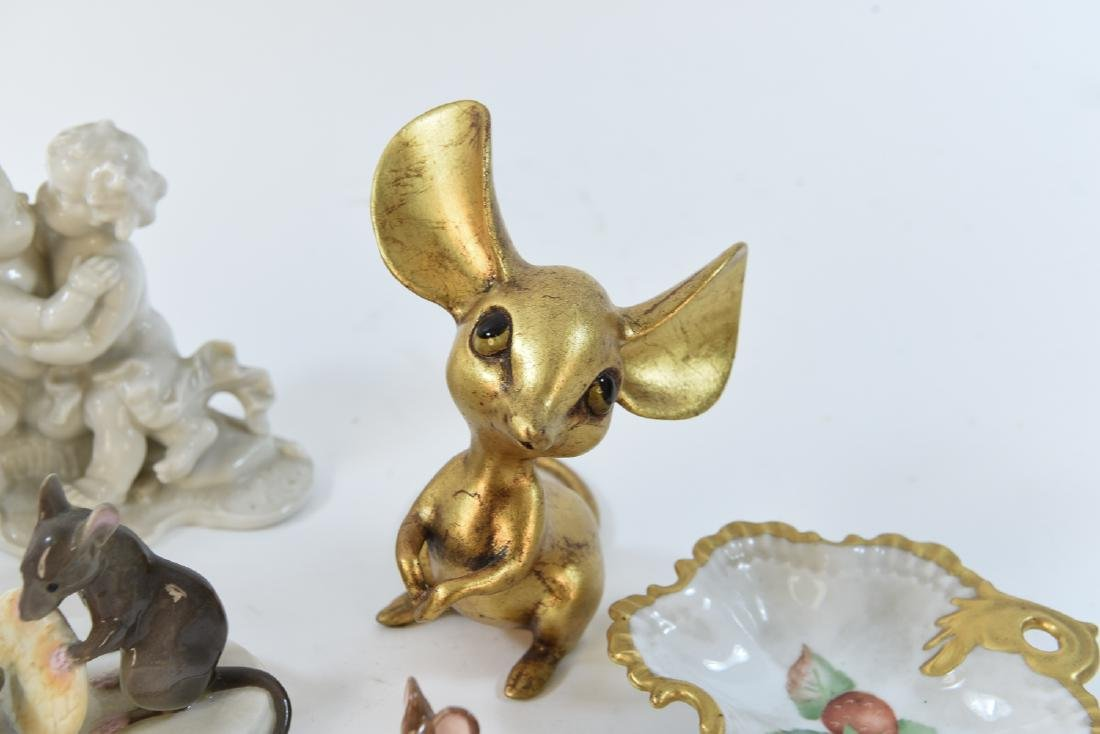 PORCELAIN MOUSE GROUPING ETC - 5