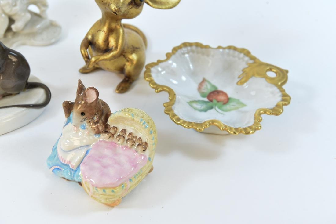 PORCELAIN MOUSE GROUPING ETC - 6