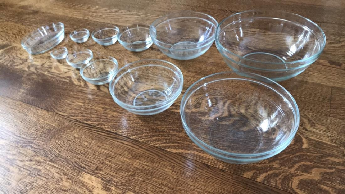 DURALEX FRENCH GLASS MIXING BOWLS