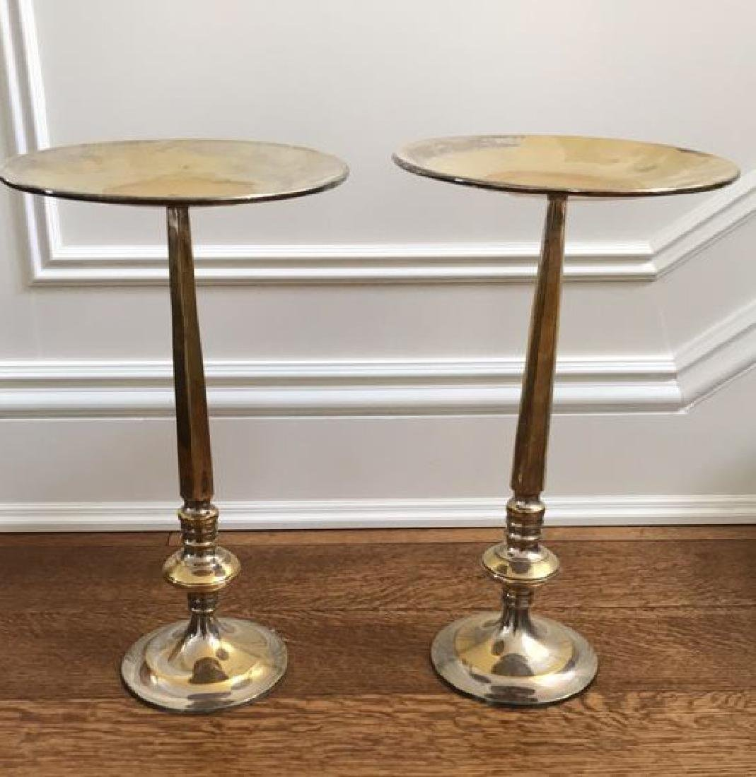 PAIR OF BRASS CANDLE STANDS