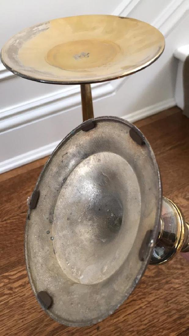PAIR OF BRASS CANDLE STANDS - 4