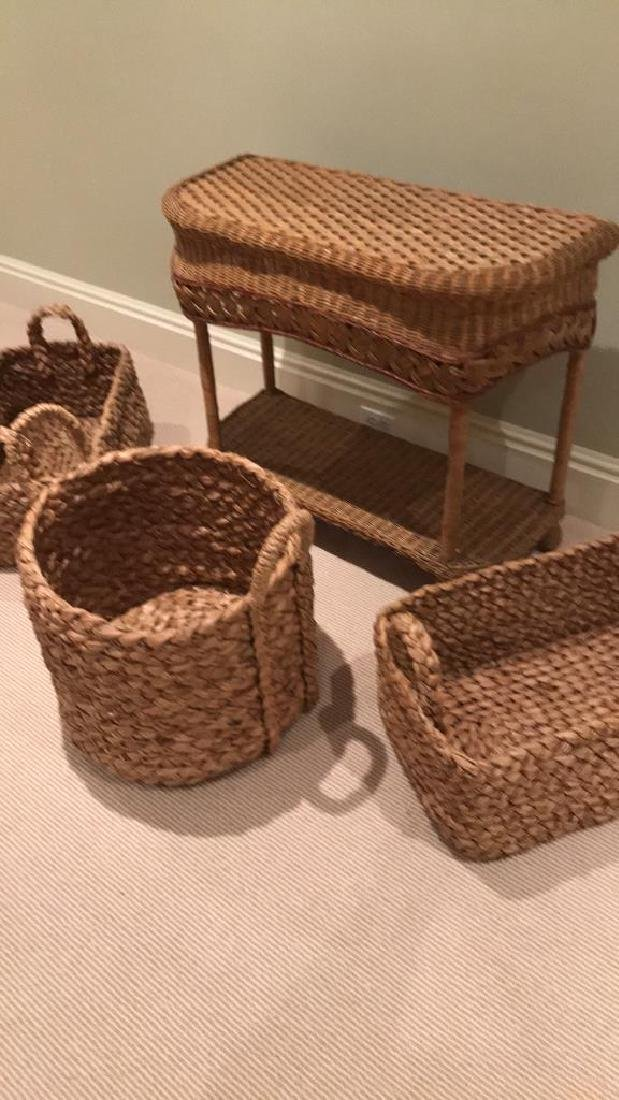 WICKER AND WOVEN BASKET ETC. GROUPING - 2