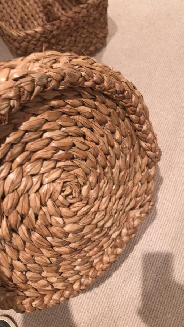WICKER AND WOVEN BASKET ETC. GROUPING - 4