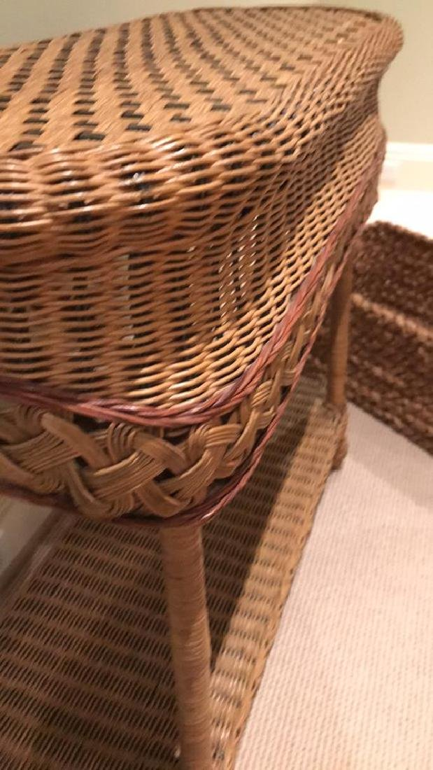 WICKER AND WOVEN BASKET ETC. GROUPING - 5