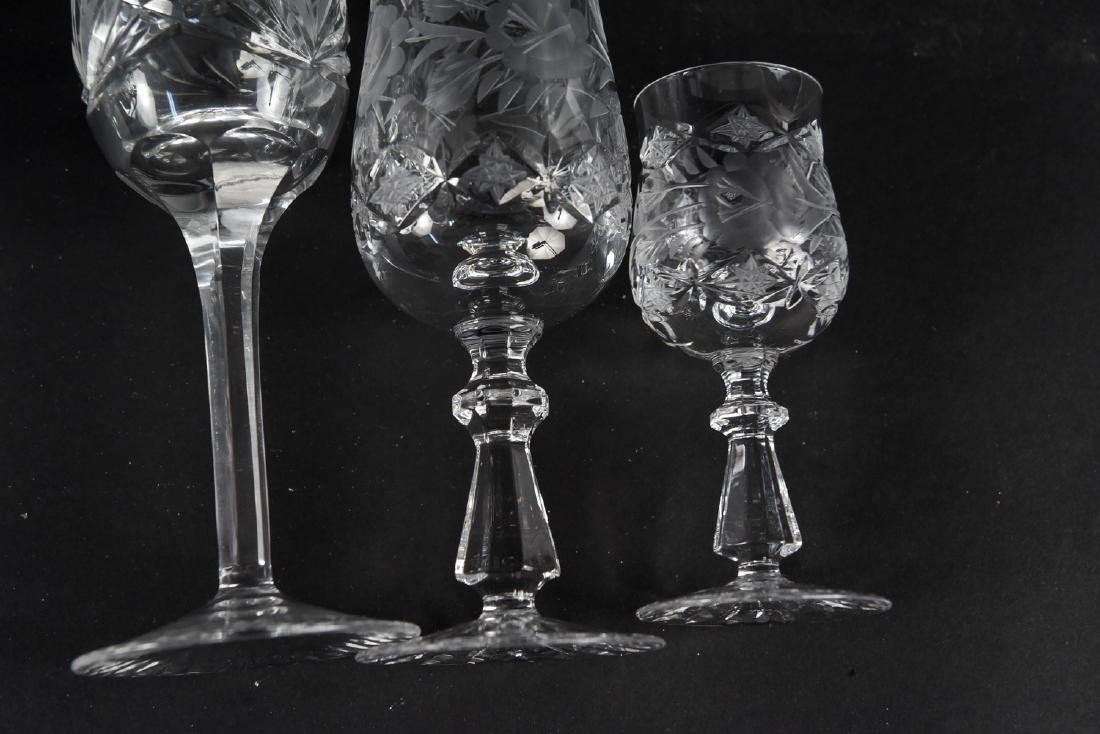 GROUPING OF CUT CRYSTAL STEMWARE - 10