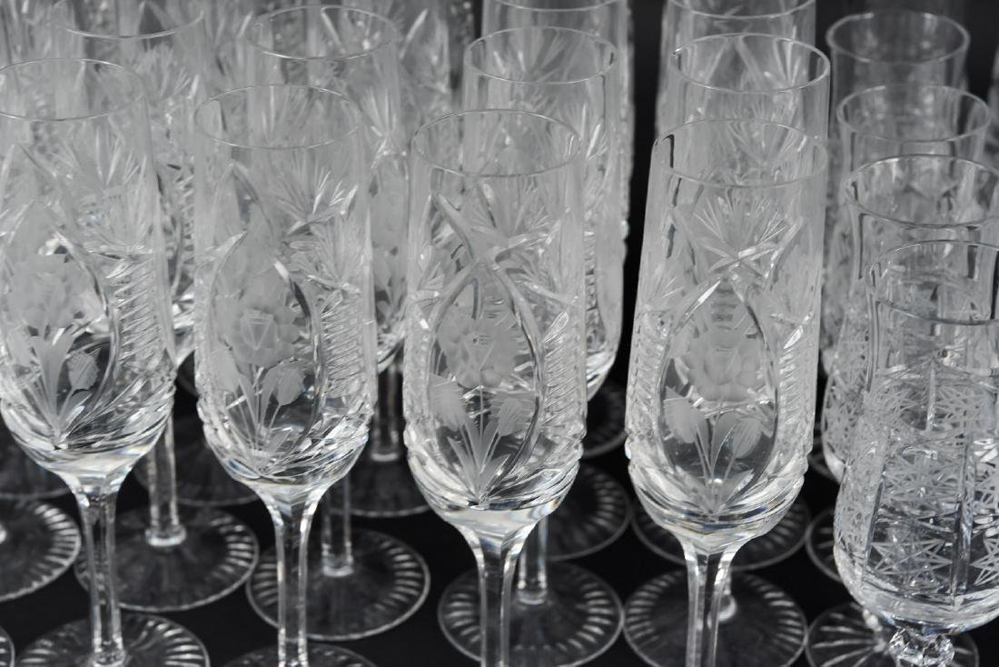 GROUPING OF CUT CRYSTAL STEMWARE - 2
