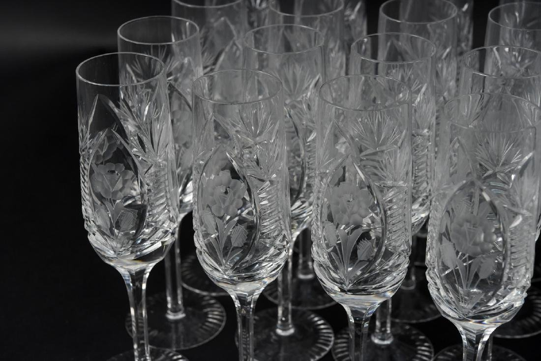 GROUPING OF CUT CRYSTAL STEMWARE - 3