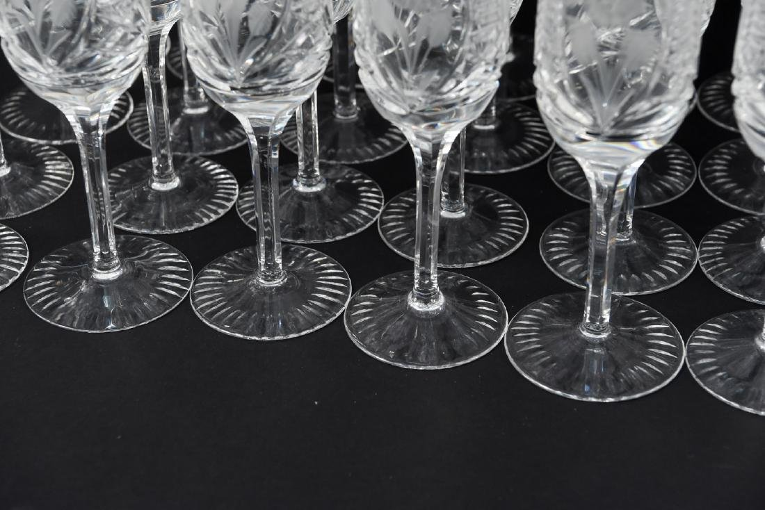 GROUPING OF CUT CRYSTAL STEMWARE - 4