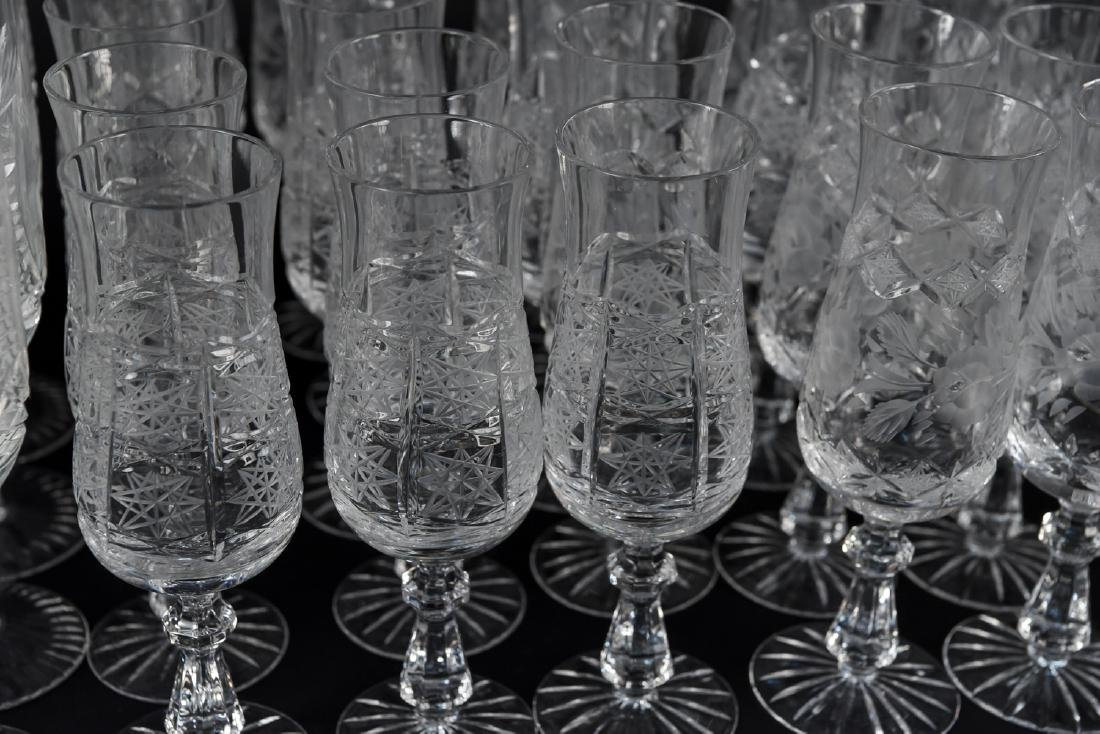 GROUPING OF CUT CRYSTAL STEMWARE - 5