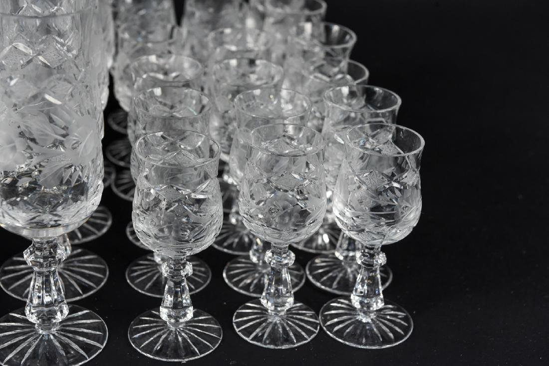 GROUPING OF CUT CRYSTAL STEMWARE - 6