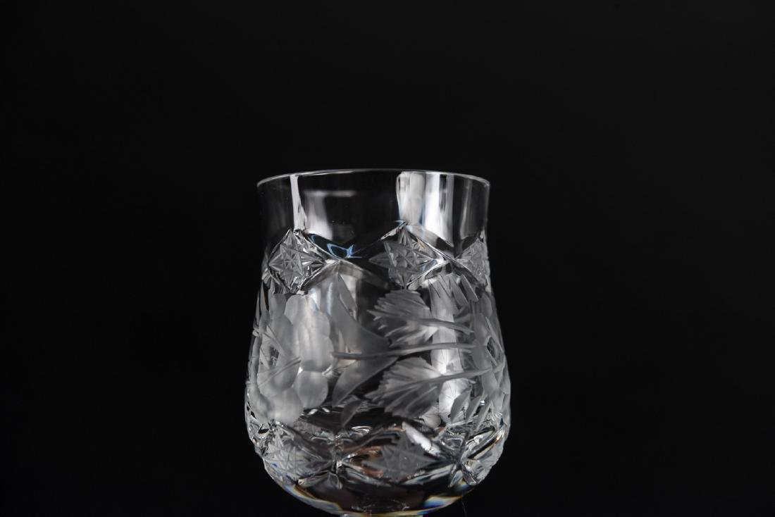 GROUPING OF CUT CRYSTAL STEMWARE - 7
