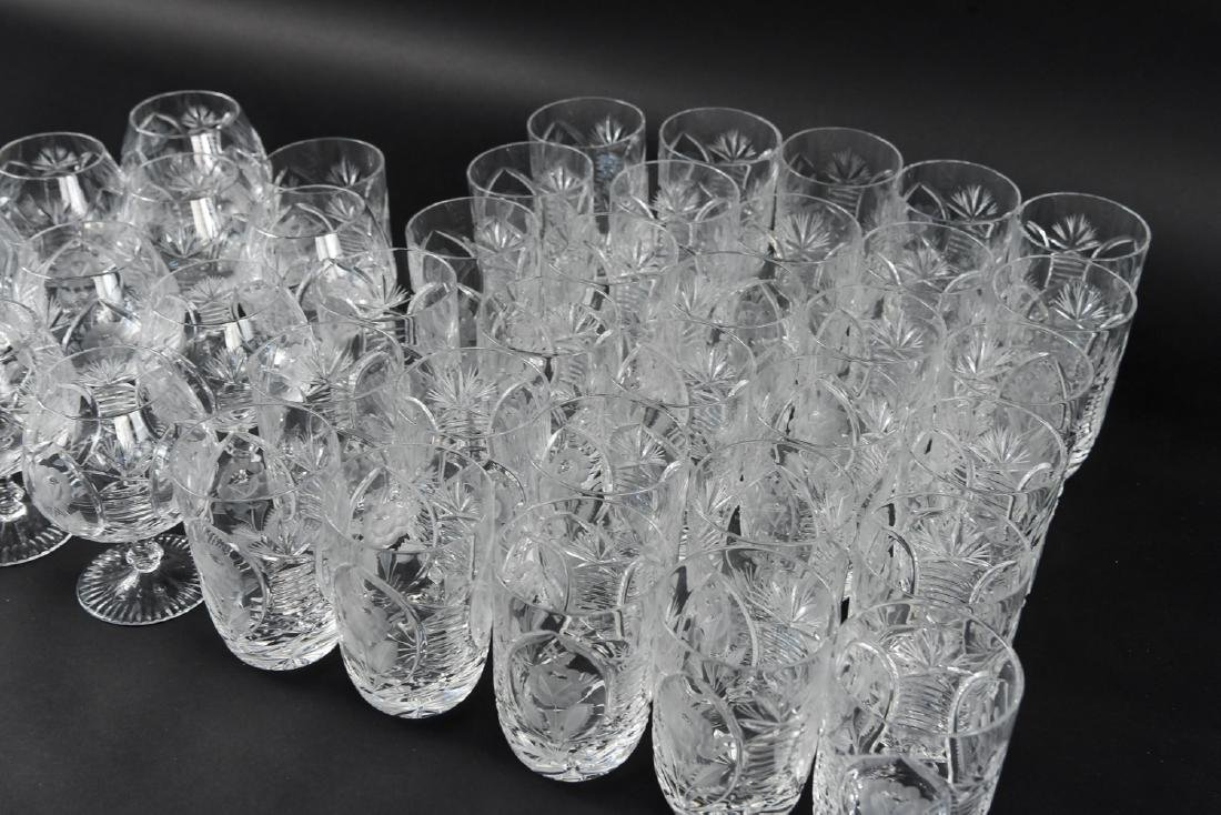GROUPING OF CUT CRYSTAL GLASSES - 4