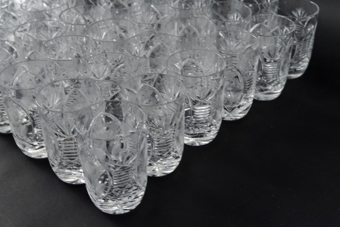GROUPING OF CUT CRYSTAL GLASSES - 6