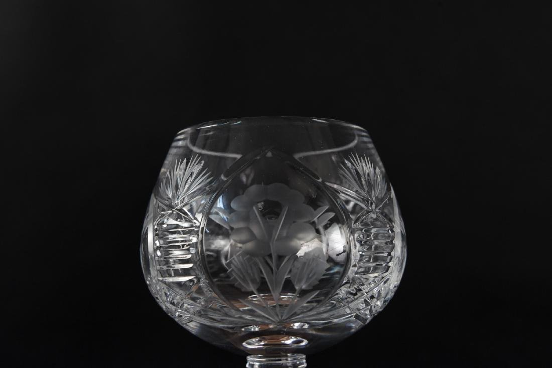 GROUPING OF CUT CRYSTAL GLASSES - 7