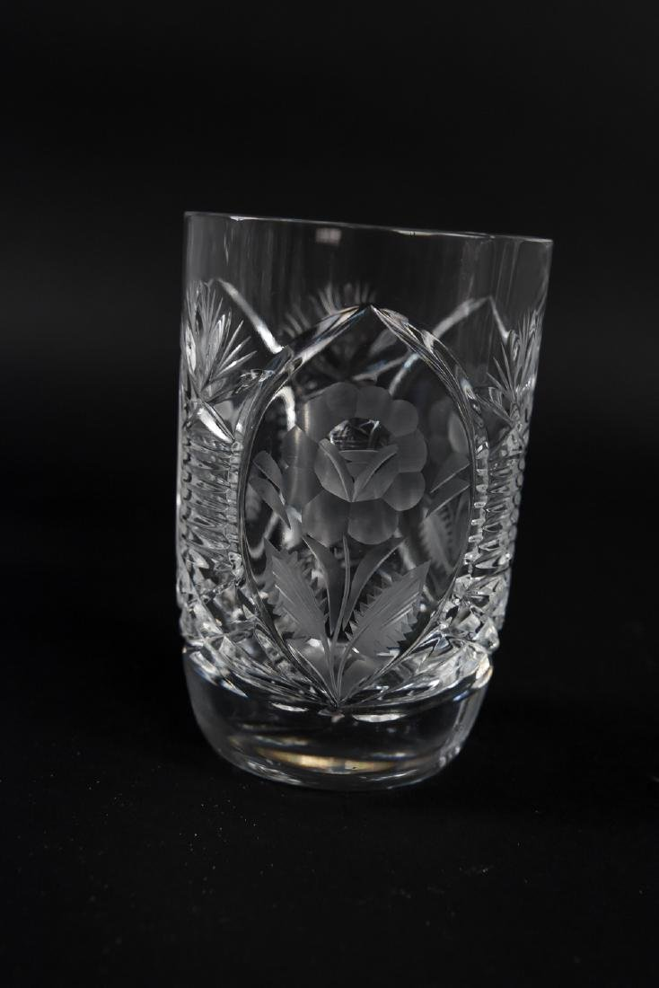 GROUPING OF CUT CRYSTAL GLASSES - 9