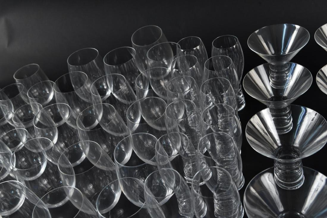 LARGE CRYSTAL GLASS GROUPING - 9