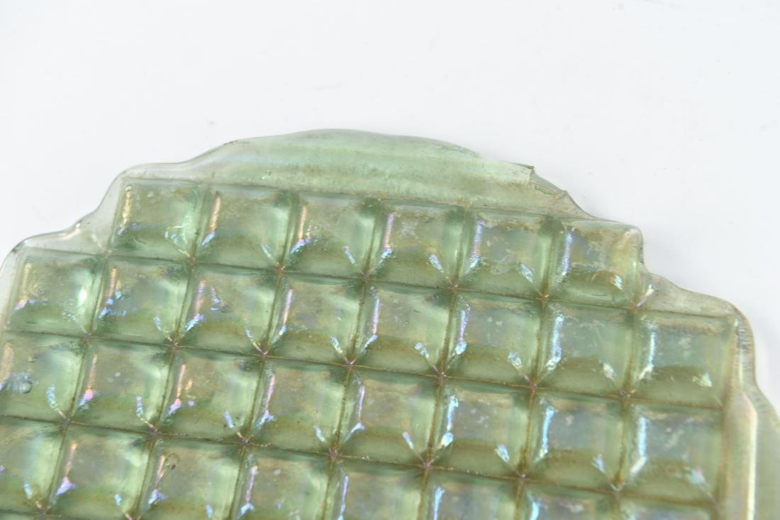UNBROKEN TIFFANY IRIDESCENT GLASS TILE PANEL - 2