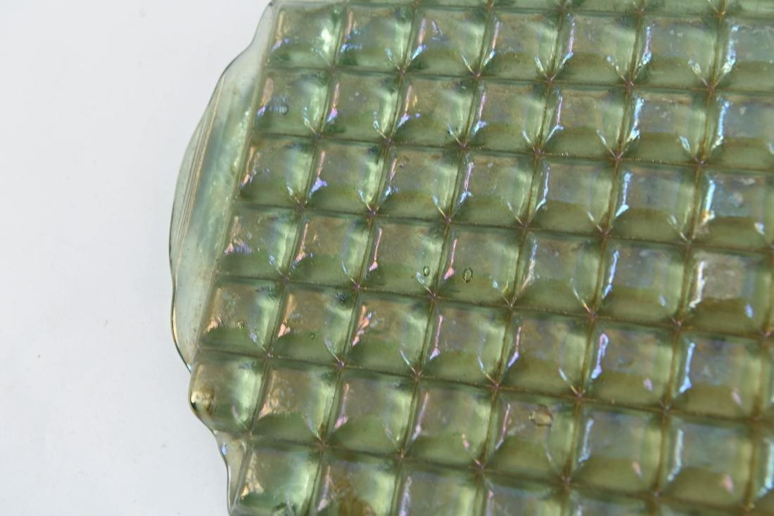 UNBROKEN TIFFANY IRIDESCENT GLASS TILE PANEL - 3
