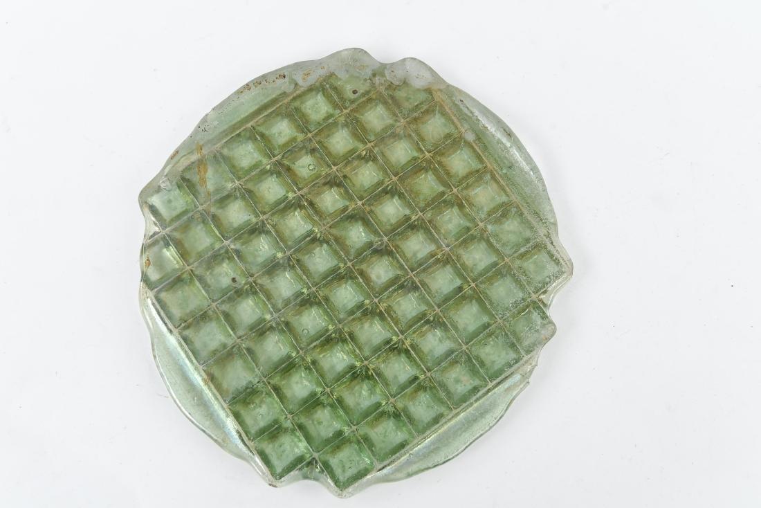 UNBROKEN TIFFANY IRIDESCENT GLASS TILE PANEL - 7
