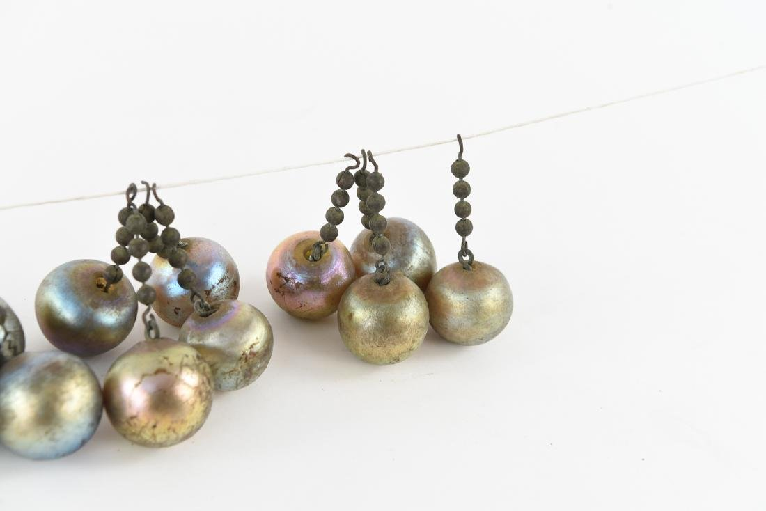 TIFFANY STUDIOS BEADED CHAIN FAVRILE GLASS BALLS - 6