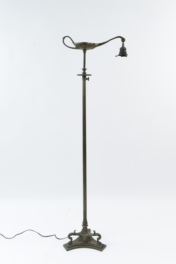 "TIFFANY STUDIOS ""ALADDIN"" BRONZE FLOOR LAMP"