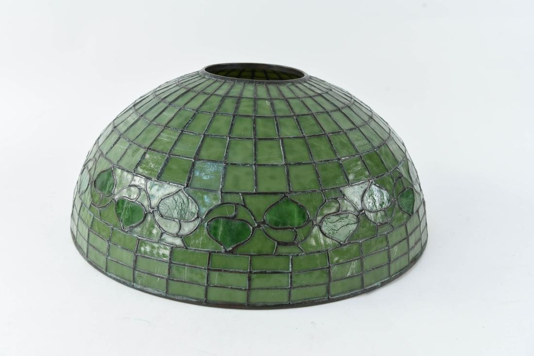 TIFFANY STUDIOS LEAF & VINE LEADED GLASS LAMPSHADE