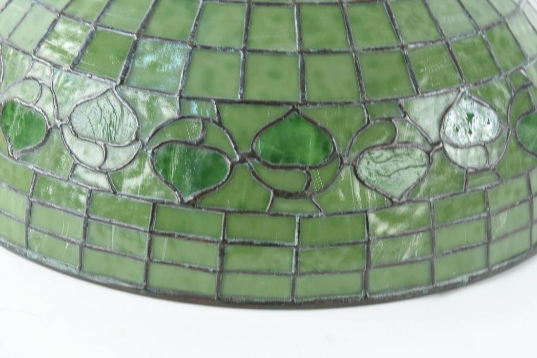 TIFFANY STUDIOS LEAF & VINE LEADED GLASS LAMPSHADE - 2