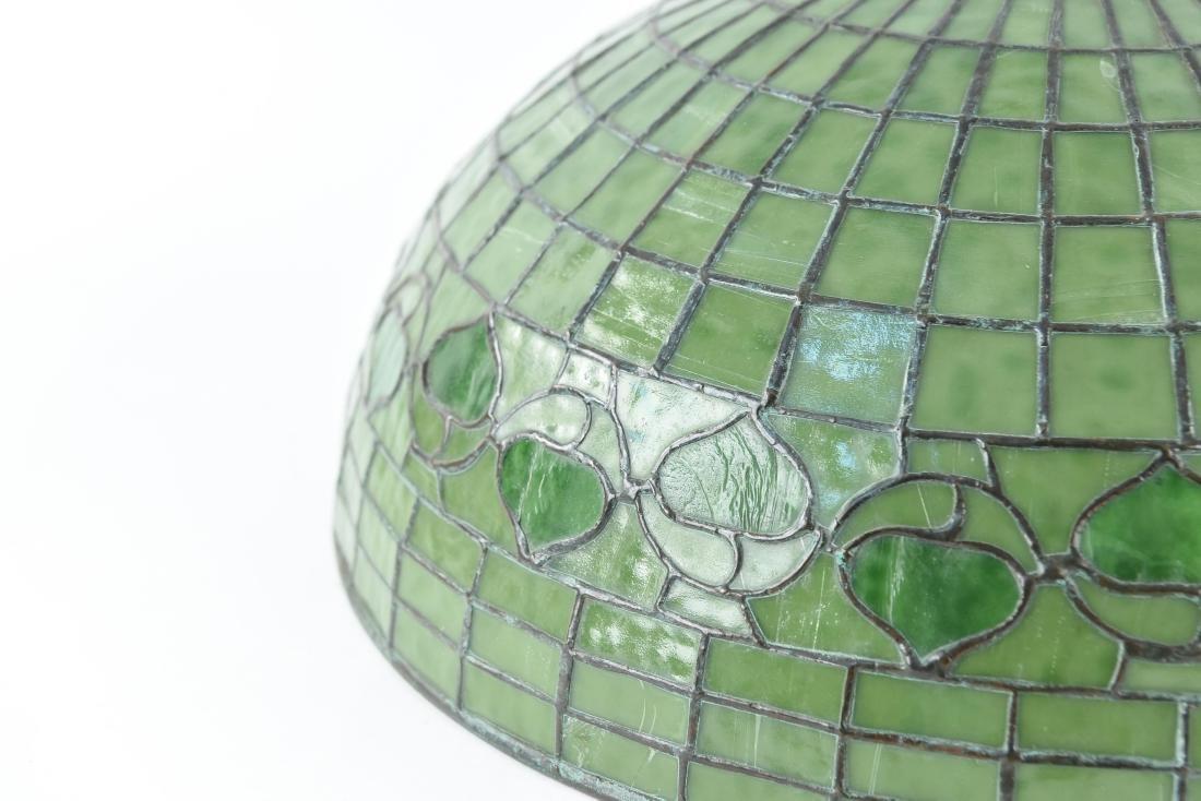 TIFFANY STUDIOS LEAF & VINE LEADED GLASS LAMPSHADE - 4