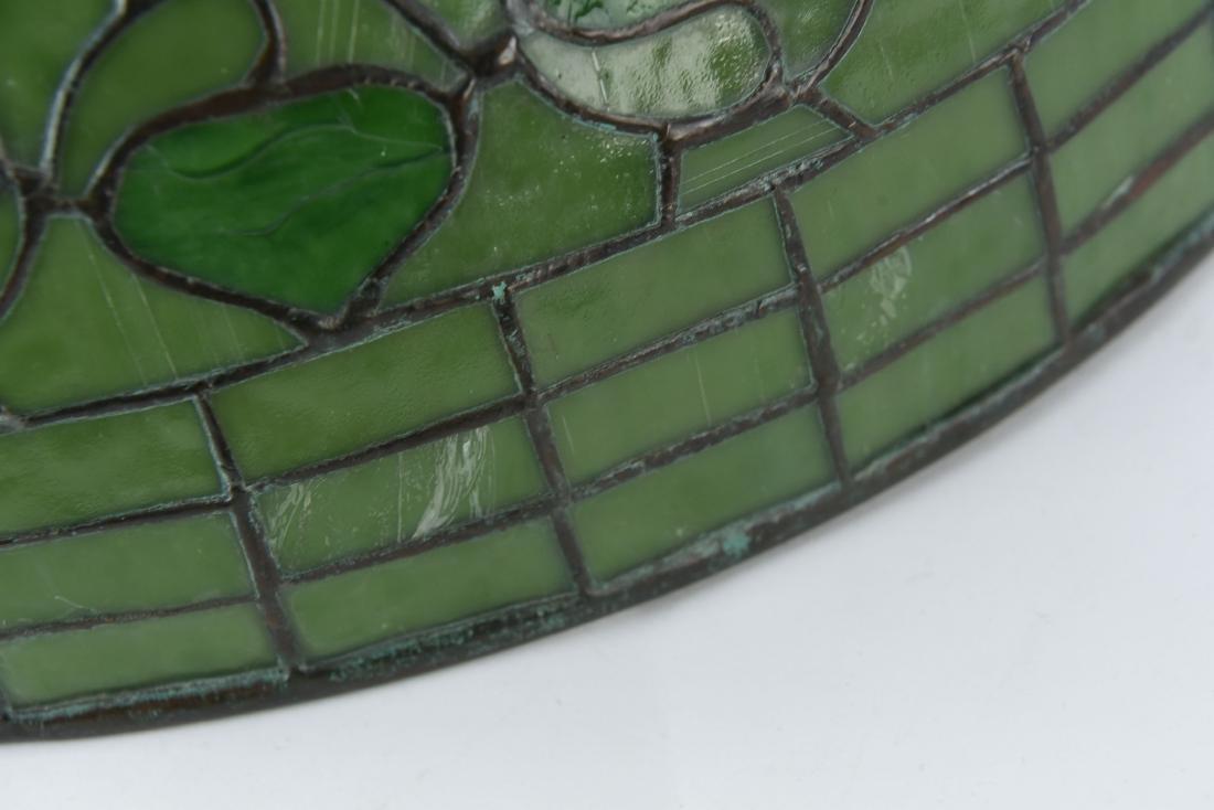 TIFFANY STUDIOS LEAF & VINE LEADED GLASS LAMPSHADE - 5