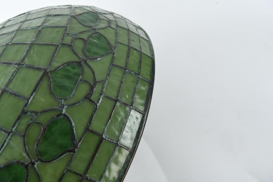 TIFFANY STUDIOS LEAF & VINE LEADED GLASS LAMPSHADE - 7