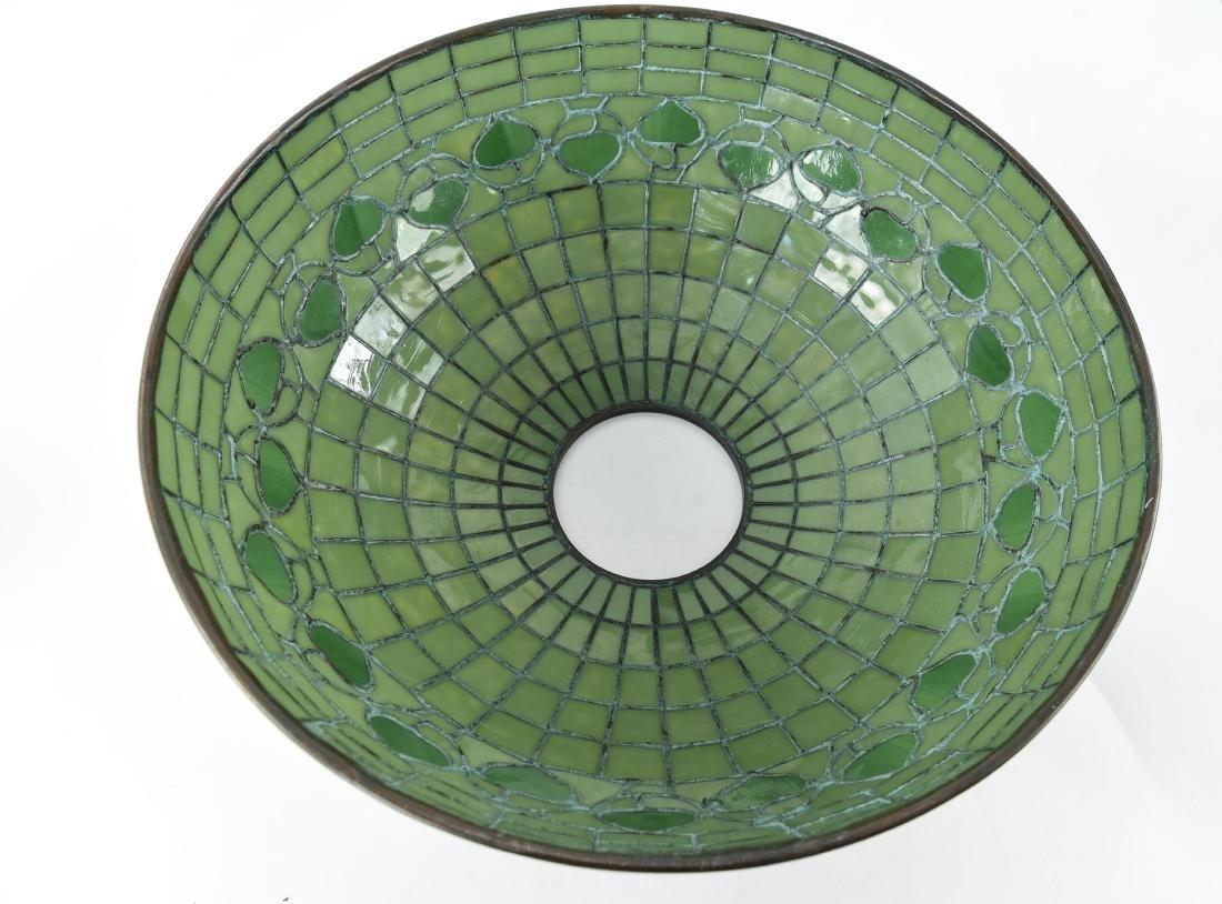 TIFFANY STUDIOS LEAF & VINE LEADED GLASS LAMPSHADE - 8