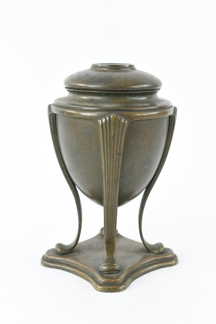 "TIFFANY STUDIOS BRONZE ""GREEK URN"" LAMP BASE"